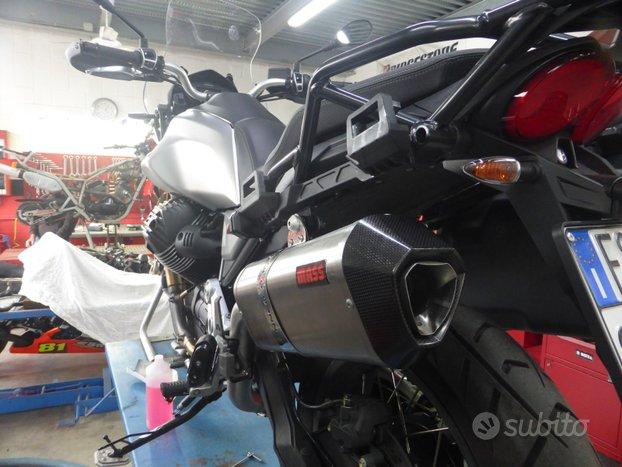 "Scarico MASS ""PRISMA"" inox per Moto Guzzi V85TT"