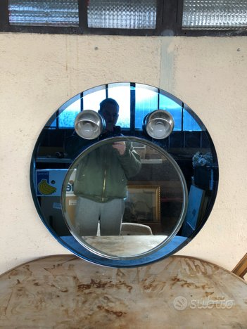 Specchio anni 70 vintage tipo Fontana arte,Fontana Arte