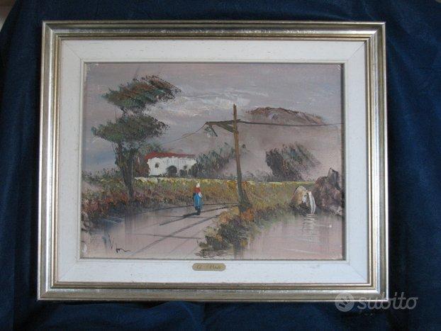 Quadro dipinto olio su tela di G. Vitale
