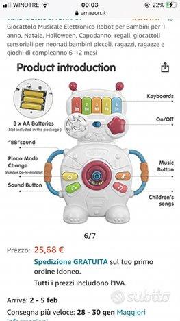 Robot musicale neonato nuovo con confezione