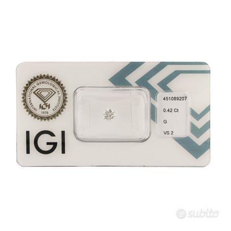 Diamante certificato IGI 0,42 ct