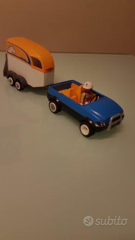 Playmobil jeep con trasporto cavalli + cavallo