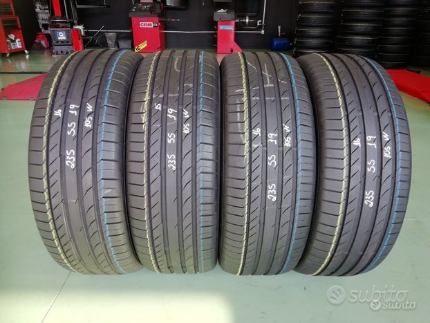 4 Gomme Usate 235 55 19 105W Continental