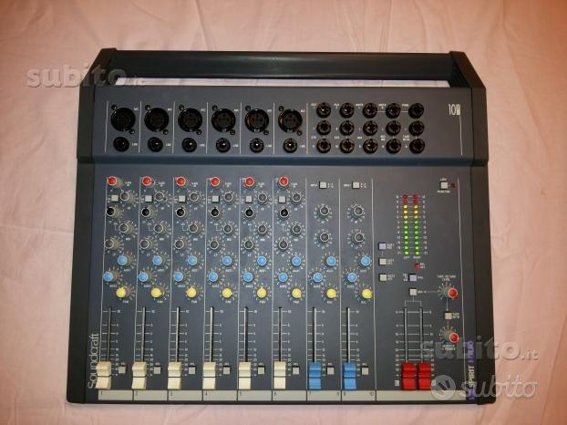 Mixer Soundcraft Spirit Folio 10 2 Mixer 8 canali