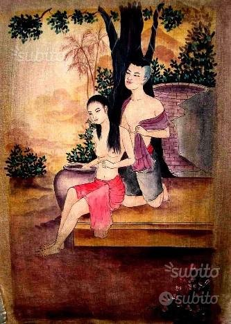 Dipinto Etnico Siamese n° 171