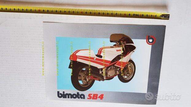 BIMOTA SB4 1100 1983 depliant originale moto epoca