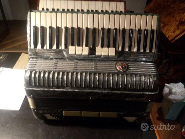 Fisarmonica busilacchio120 bassi perlata grigia