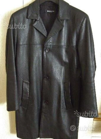 Giacca /Cappotto in pelle nero uomo Made in Italy