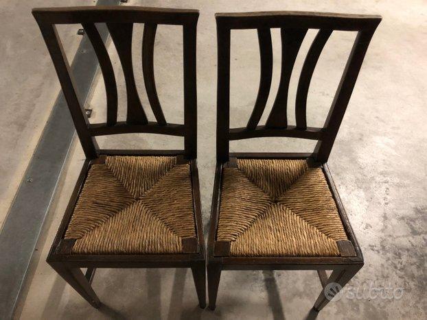 Coppia sedie impagliate del secolo scorso - Arredamento e ...