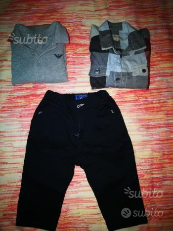 Polo Armani, camicia Burberry, pantaloni Fay 12 me