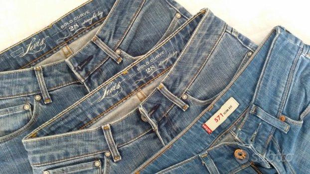 3 Jeans LEVIS donna + giubbino jeans ZARA