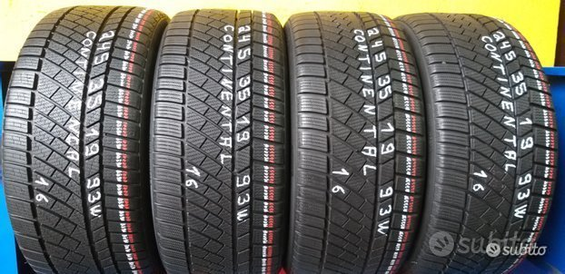 4 gomme 245 35 19 continental invernali