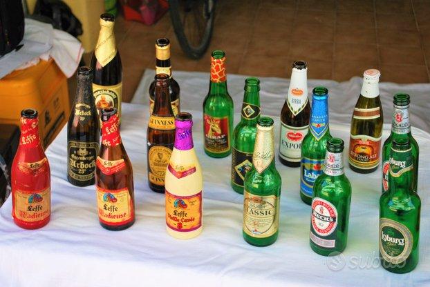 Set bottiglie di birra varie marche anni 90