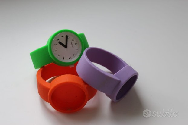Orologio Full spot O clock 3 cinturini+ meccanismo