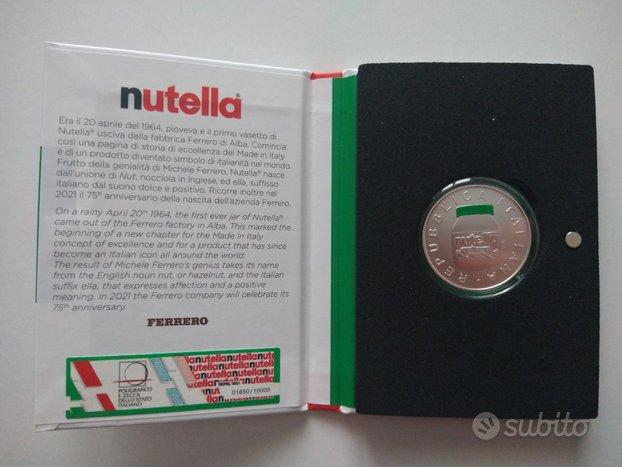 IPZS 5 euro2021 in argento Nutella versione Verde