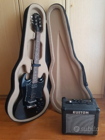 Chitarra elettrica Epiphone Gibson diavoletto nera