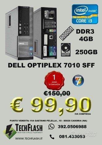 dell 7010 core i3 2100 ram 4gb hd 250gb garanzia 1 computer fissi