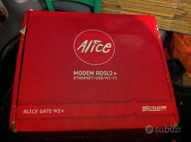 Modem Router adsl2 Wi Fi Ethernet Alice Gate W2