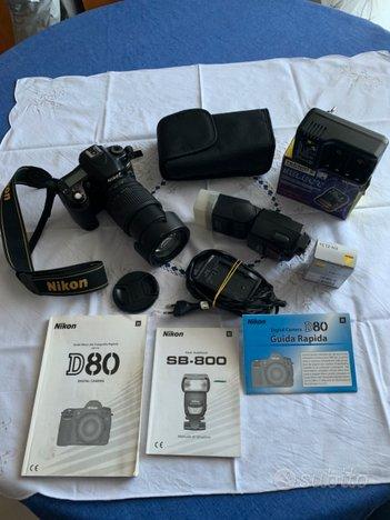 Maacchina fotografica digitale reflex Nikon D80