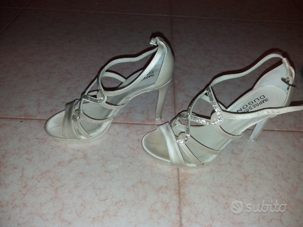 sandalo da sposa in raso