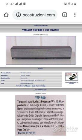 YAMAHA YSP800 + Subwoofer FOCAL CUB2, Come nuovi