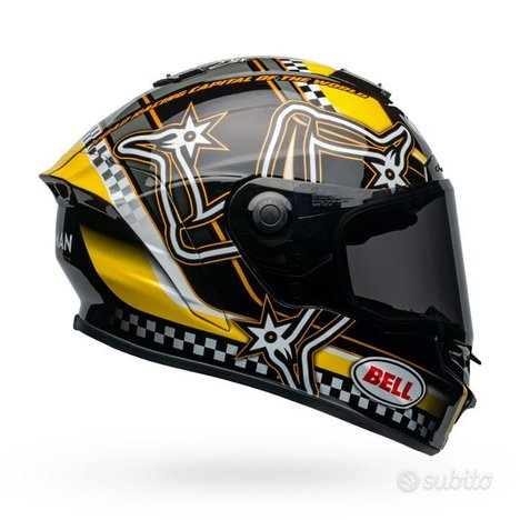 Bell star dlx mips isle of man gloss black/yellow