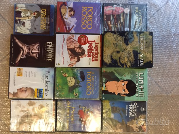DVD e BD vari - Ghibli - Games of Thrones - Lupin