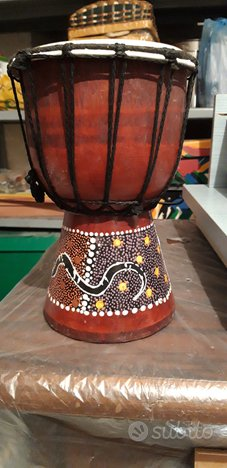 Bongo djembe africano 40 cm altezza dipinto a mano
