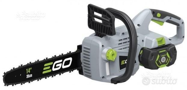 Motosega a batteria Ego Power con bat carica