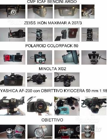 Macchina fotografica zeiss bencini polaroid minolt