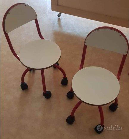 Sedie con rotelle per didattica