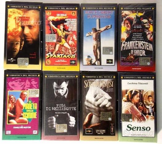 8 VHS Film Videoteca del Secolo Mondadori