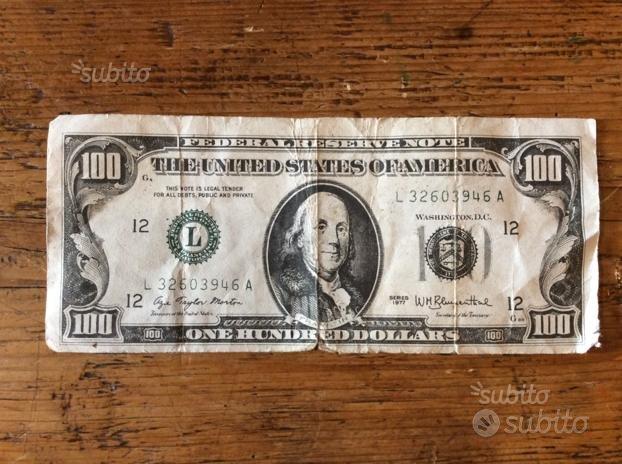 Figurina propaganda elettorale PCI 100 dollari