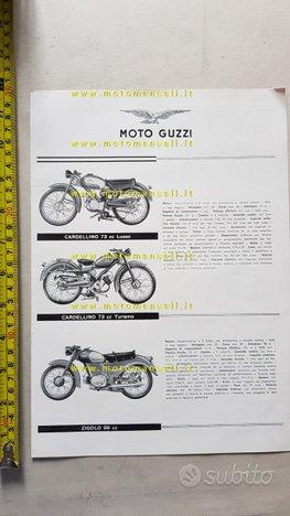Moto Guzzi Produzione 1957 depliant originale