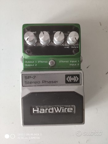 Digitech hardware sp7 stereo phaser pedale