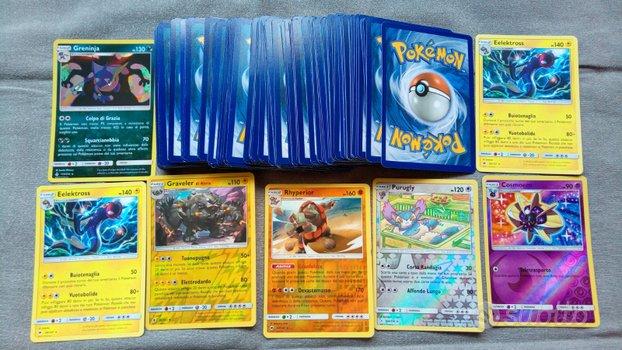 Carte Pokemon originali rare e holo a scelta
