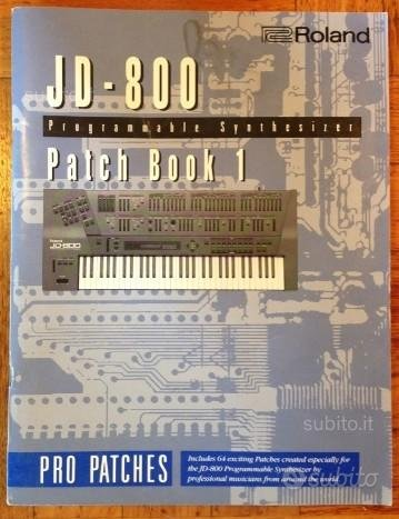 Roland jd 800 Patch book 1