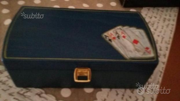 Valigia da gioco carte e fish da tavolo