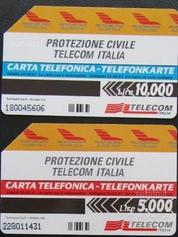 2 schede telef.bilingui: Protezione Civile - dda