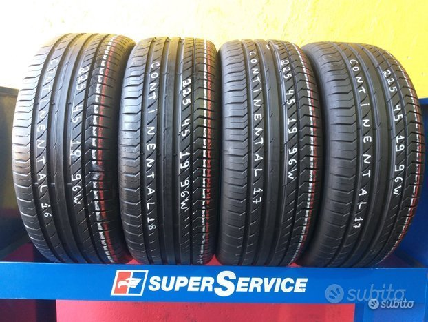 4 gomme 225 45 19 continental estive