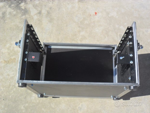 Flight case rack proel 3 unità+porta mixer