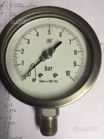 Manometro10 bar f.s.Manometro4 bar f.s.Spia flusso