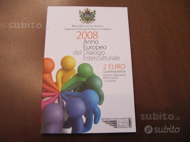2 euro commemorativo San Marino 2008