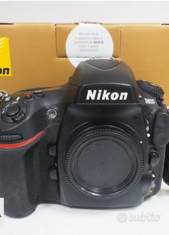 Nikon d800 in scatola scatti 38500 garanzia 2 anni
