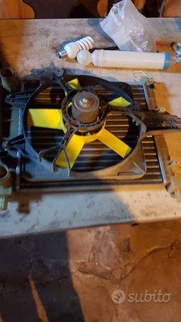 Radiatore+elettroventola fiat uno 100 fire