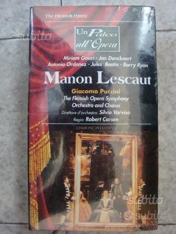 Manon Lescaut - Giacomo Puccini - Vhs - Un Palco