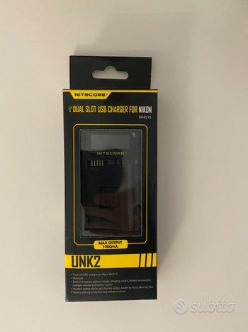 Caricabatterie USB doppio Nikon EN-EL15