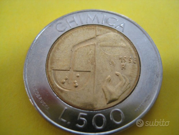 500 Lire San Marino 1998 Chimica Rif. 34 bis