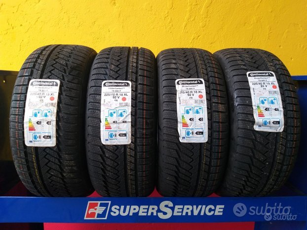 4 gomme 225 40 18 continental invernali