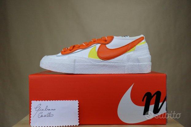 Nike Blazer Low X Sacai Magma White Orange